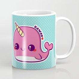 Kawaii Pink Narwhal Coffee Mug