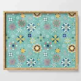 Christmas snowflakes pattern Serving Tray
