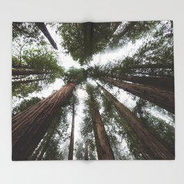 Redwood Portal - nature photography Throw Blanket