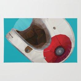 Bell Bullitt Cafe Racer Helmet Polygon Art Rug
