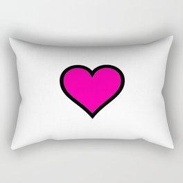 Pink Heart Rectangular Pillow