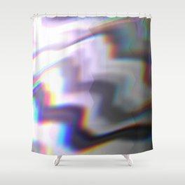 HoloGlitch Shower Curtain