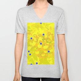 Flowers and stars Unisex V-Neck