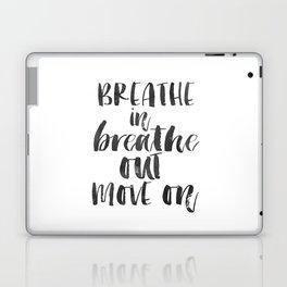 Breathe Quote Just Breathe Quote YOGA ZEN POSTER Laptop & iPad Skin