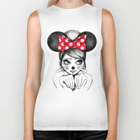 minnie Biker Tanks featuring Minnie by theavengerbutterfly