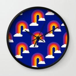 Rainbow Skies Wall Clock