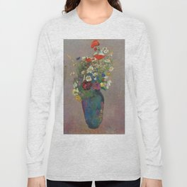 "Odilon Redon ""Vision - vase of flowers"" Long Sleeve T-shirt"