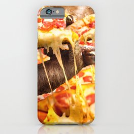 Funny Space Sloth With Pizza iPhone Case