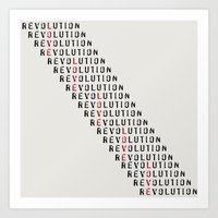 revolution Art Prints featuring Revolution by Skye Zambrana