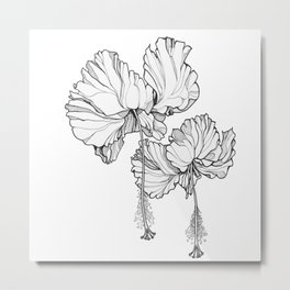 Hibiscus in Bloom Metal Print