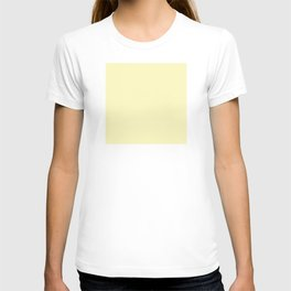 Hello Pastel Yellow - Solid Color T-shirt