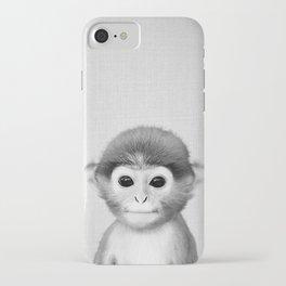 Baby Monkey - Black & White iPhone Case