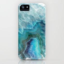 Blue Aqua Agate iPhone Case