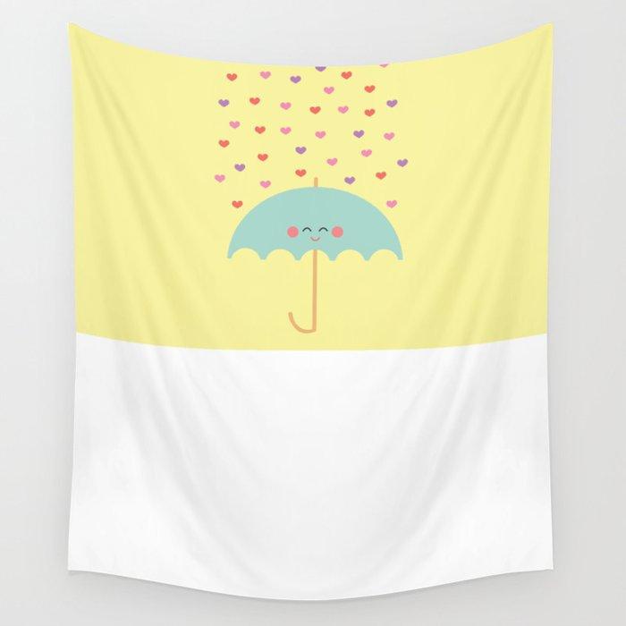 Love Rain Wall Tapestry