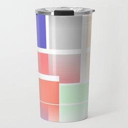 Abstract Colour Blocks Travel Mug