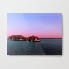 Sunset Over The Island Metal Print