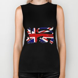 British Lion Silhouette On Union Jack Flag Biker Tank