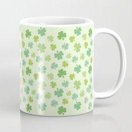 Happy St. Patrick's Day Shamrock Pattern on light green Coffee Mug