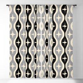 Mid century Modern Bulbous Star Pattern 124 Blackout Curtain