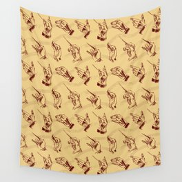 Conductor (pattern in brown and ochre) Wall Tapestry