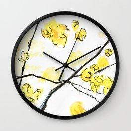 Wintersweet Wall Clock