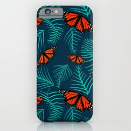 monarchs in the fern leaves iPhone Case