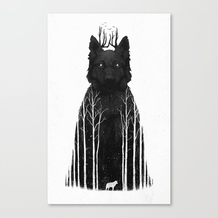 The Wolf King Canvas Print