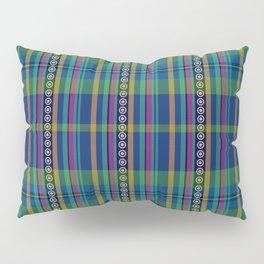 emerald and navy dobbie plaid Pillow Sham