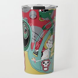 get in the car, we're goin' for a ride! Travel Mug
