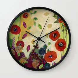 The Unexpected Poppies Wall Clock