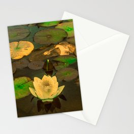 Summer Waterlily Pond Stationery Cards