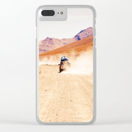 Road Racing Desert (Color) Clear iPhone Case
