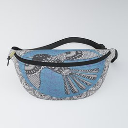 Beautiful Bird Mandala Fanny Pack