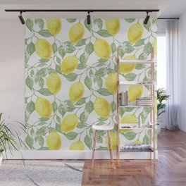 Lemon Tree Pattern Wall Mural