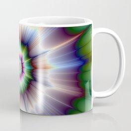 Violet Green and Blue Super Nova Coffee Mug