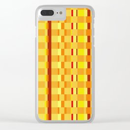 Checkered Red orange Design Clear iPhone Case