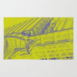 Manhattan Bridge - Green Rug
