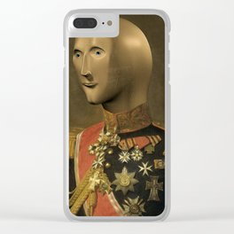 Meme Man Renaissance Portrait Clear iPhone Case