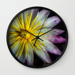Glass Castle Lily Wall Clock