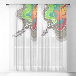 Magic Trumpet Sheer Curtain