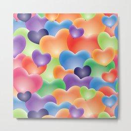 Valentine Balloon Hearts Metal Print