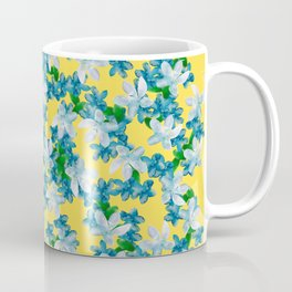 Summer Flowers Yellow Coffee Mug