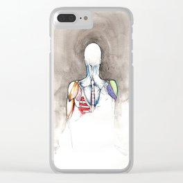Non-apate, male back anatomy, NYC artist Clear iPhone Case
