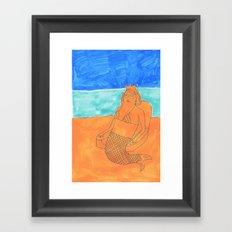sand queen Framed Art Print