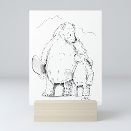 Thanks Poppa Bear Mini Art Print