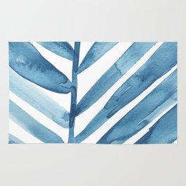 Blue Palm Leaf Crop Rug