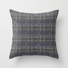Rosewall plaid Throw Pillow