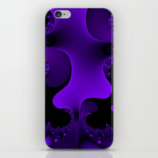 Purple Rain Fractal iPhone & iPod Skin