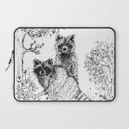 Raccoons in the Garden Laptop Sleeve