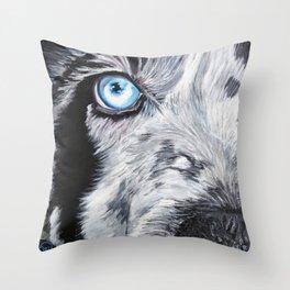 Blue Inspiration Throw Pillow